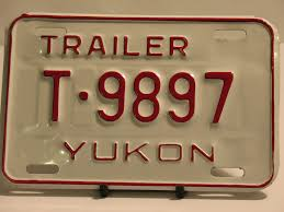 100 Truck License Yukon Plate Trailer T 9897 NOS New Old Stock For Sale