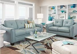 picture of home marcella spa blue leather 2 pc