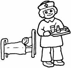 Nurse Coloring Pages Kindergarten Tags Page All At