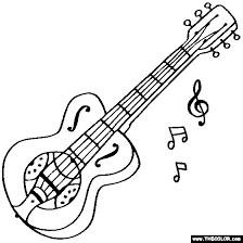 Dobro Coloring Page Gibson Resonator Guitar
