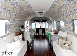 Before After Airstream Trailer Makeover From Design Sponge Camper