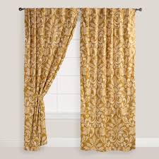 Gold And White Curtains by Gold Curtains And Drapes Decorate The House With Beautiful Curtains