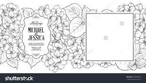 Rustic Wedding Invitation Card Template White Stock Vector