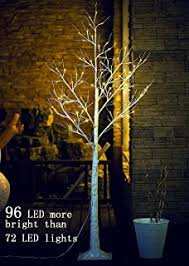 Fanshunlite 96LED 6Ft Lighted Birch Tree Decoration Christmas Home