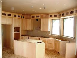 Honey Pine Shaker of Unfinished Kitchen Cabinet Doors