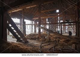 Inside Abandoned Farmhouse Stock Photo 586055447
