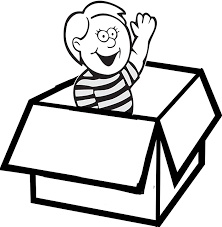 Ball In The Box Clipart Black And White