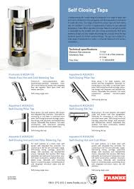 27 Aerators U0026 Flow Restrictors by Franke Introduces Self Closing Taps Iid The African Institute