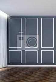 leere wohnzimmer und grauem muster wand hintergrund