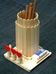 Easy Craft Ideas With Popsicle Sticks Cute And Using Ice Cream Stick Crafts Club Lolly Bureau Pots A Crayon Comment Pot Original Meme