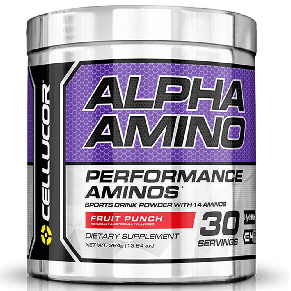 Cellucor Alpha Amino Acid Supplement with BCAA - Fruit Punch, 13.4oz