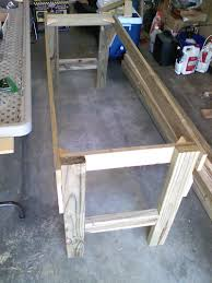 build picnic table bench combo plan diy woodworking mag