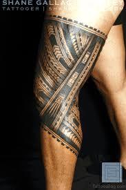 Samoan Tribal Leg Band Tattoo