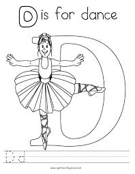 Letter D Coloring Page 3