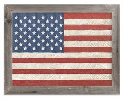 35 Collection Of Rustic American Flag Wall Art
