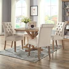 Round Dining Table Sets Rustic X Base Inch Set By Inspire Q Artisan Costco