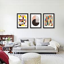 Geometric Patterns Wall Art Canvas Print Colorful Painting Abstract Prints For Home Office