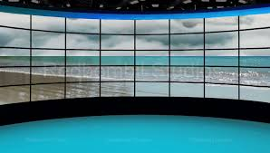 News 36 Broadcast TV Studio Green Screen Background Loopable