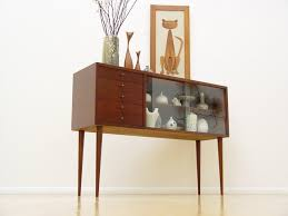 Danish Mid Century Modern Credenza Display Cabinet Eames Era Hollywood Regency Yes