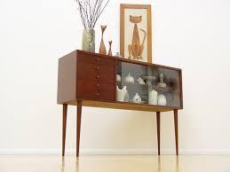 Danish Mid Century Modern Credenza Display Cabinet Eames Era Hollywood Regency Yes