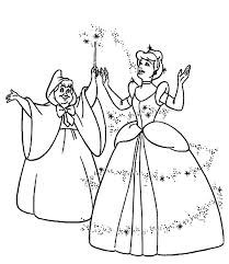 Cinderella Fairy Godmother Coloring Pages