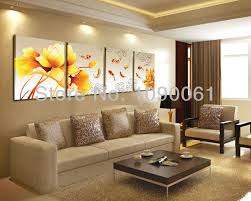 Hand Painted 4 Piece Koi Fish Lotus Oil Painting Abstract Modern Dining Room Set Large Canvas Wall Art Deco Picture No Frame In Calligraphy From