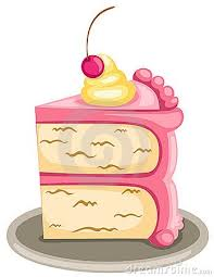 cute slice of cake clipart