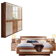 rauch orange m valerie schlafzimmerset mit drehtürenschrank passepartout bett und 2 nachtkommoden mit beleuchteten aufsätzen