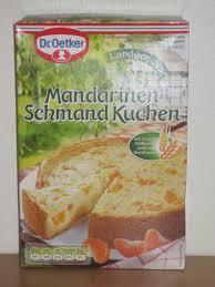 mandarinen schmand kuchen cake mix