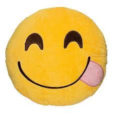 Face Savouring Smiling Emoji Pillow Emoji Pillows