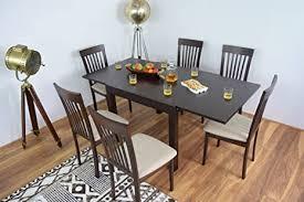 ahoc ausziehbarer esstisch und 6 stühle set massiv holz küche ausziehbar möbel esszimmer sets abendessen extend tische und stuhl
