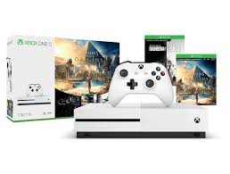 siege console de jeux xbox one console s 1tb with assassins creed origins and rainbow