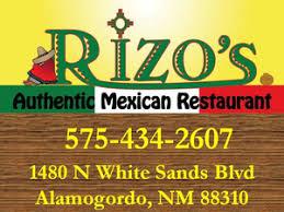 Pizza Patio Alamogordo Nm by Rizo U0027s Mexican Restaurant Alamogordo Delivery Menu