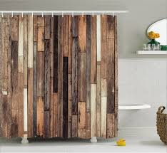 East Urban Home Wooden Old Floor Rustic Style Shower Curtain Reviews
