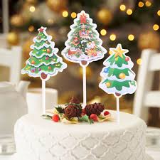 US 337 40 OFFCupcake Toppers 10pcs Cake Paper Christmas Tree Cake Decoration For Fondant Cake Small Mousse Cheese Tiramisuin Cake Decorating