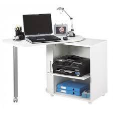 bureau ordinateur blanc bureau informatique blanc pivotant beaux meubles pas chers