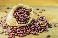 Red Beans In A Bag Royalty Free Stock Images