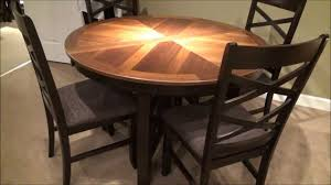 5 piece bistro round oval x base table dining room set by liberty