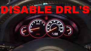 how to disable your daytime running lights drl s on your 2005