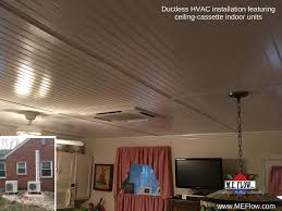 Mini Split Ceiling Cassette Air Conditioner by Ductless Cooling System Leesburg Alexandria Winchester Me Flow