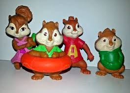 Alvin And The Chipmunks Cake Decorations by Alvin And The Chipmunks Mcdonalds Toy Set Lot Simon Theodore Alvin