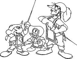 Mickey And Minnie Mouse Halloween Coloring Pages by Disney The Three Musketeers Coloring Pages Wecoloringpage