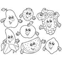 Neoteric Fruit And Vegetables Coloring Pages Free Printable For Kids