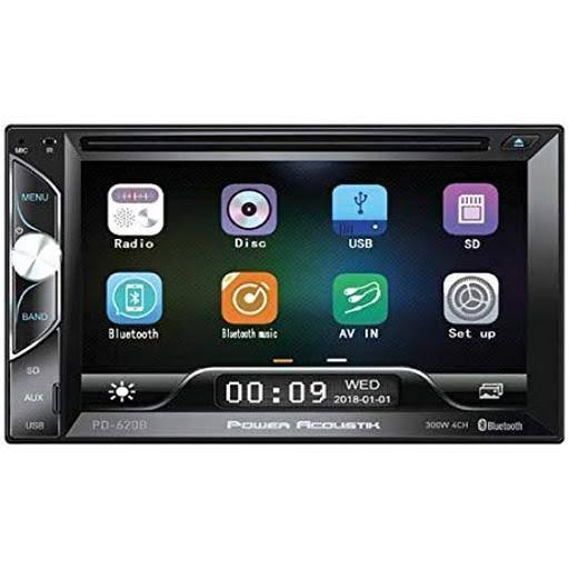 "Power Acoustik PD620B D.Din 6.2"" AM/FM/CD/DVD/BT"