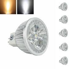 5pcs free shipping mr16 led spotlight bulb 12v ac dc 4x1w mr16
