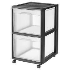 Sterilite 2 Shelf Utility Cabinet by Sterilite 2 Drawer Plastic File Cart In Black 34209001 The Home