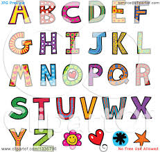 Clipart Colorful Alphabet Letters With Eyes Royalty Free Vector