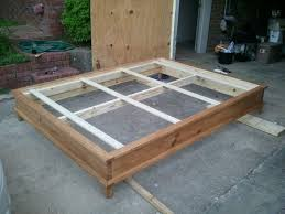 Build Platform Bed Frame Diy by Build A Platform Bed Frame Plans Large Size Of Bed Beds For Sale