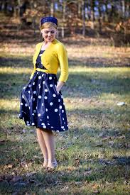 law gospel in navy blue polkadots and yellow fresh modesty