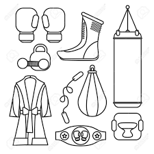 Boxing Vector Design Elements Fighting And Equipment Gloves Illustration